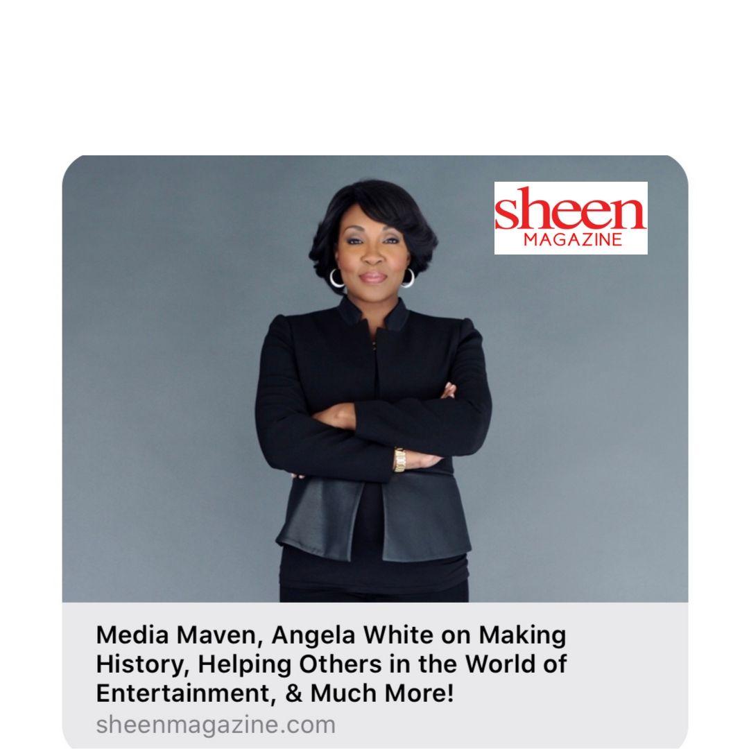 Media Maven, Angela White in Sheen Magazine