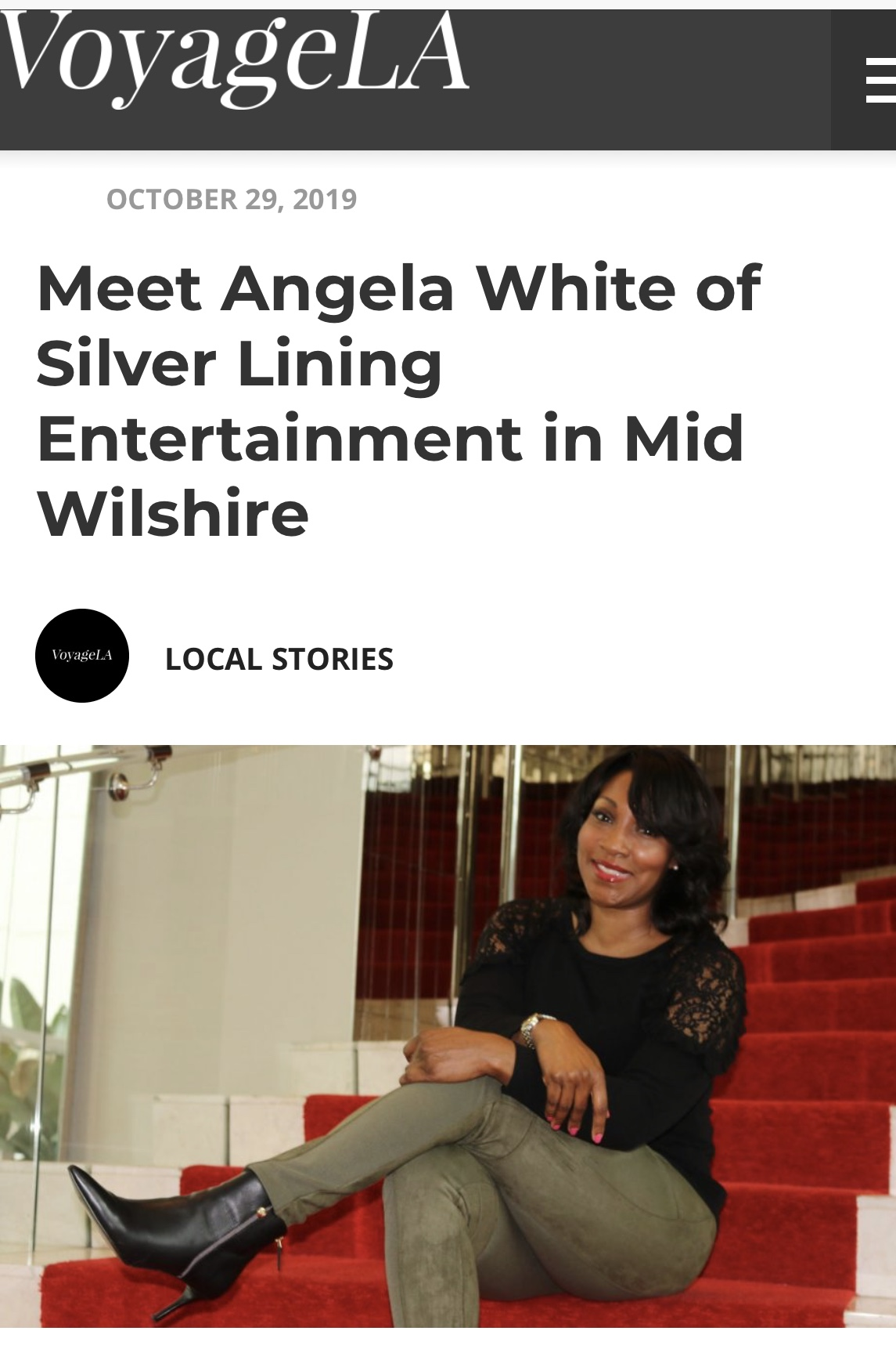 Voyage LA Film Producer Angela White of Silver Lining Entertainment in Mid Wilshire