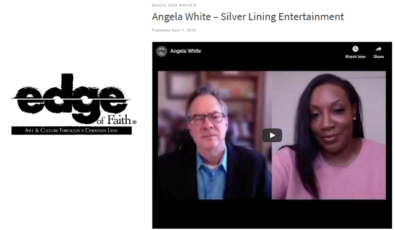 Edge of Faith Magazine with Angela White