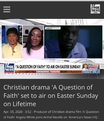Fox News features 'A Question of Faith'