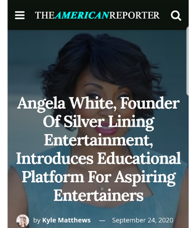 The American Reporter featuring Angela White