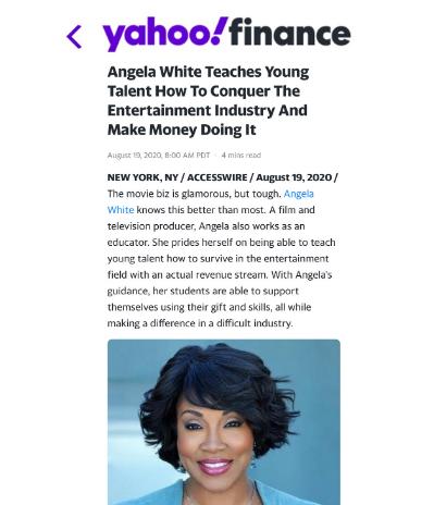 Yahoo Finance Angela White